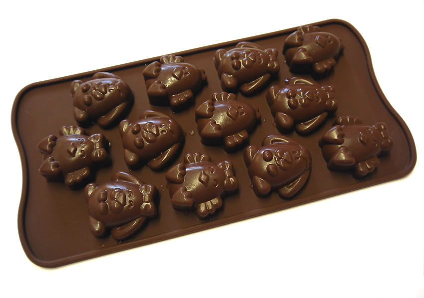 <strong> Stampi in Silicone</strong> Choco EASTER FRIENDS - Silikomart