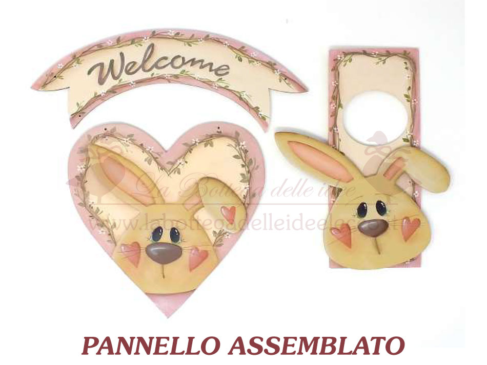 cucito - EASY-SEW ''welcome'' BUNNY - labottegadelleideelecco.it