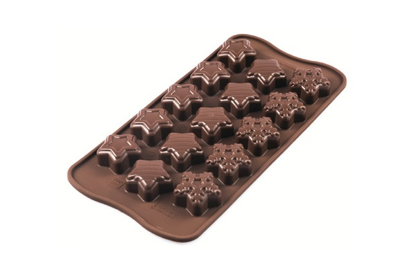<strong> Stampi in Silicone</strong> Choco WINTER STARS - Silikomart