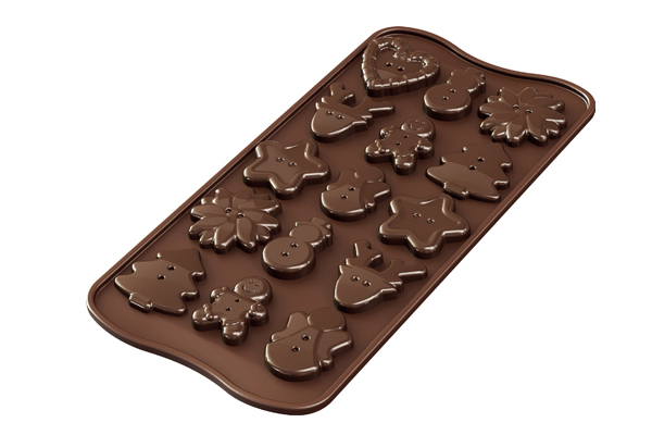 <strong> Stampi in Silicone</strong> Choco XMAS BUTTONS - Silikomart