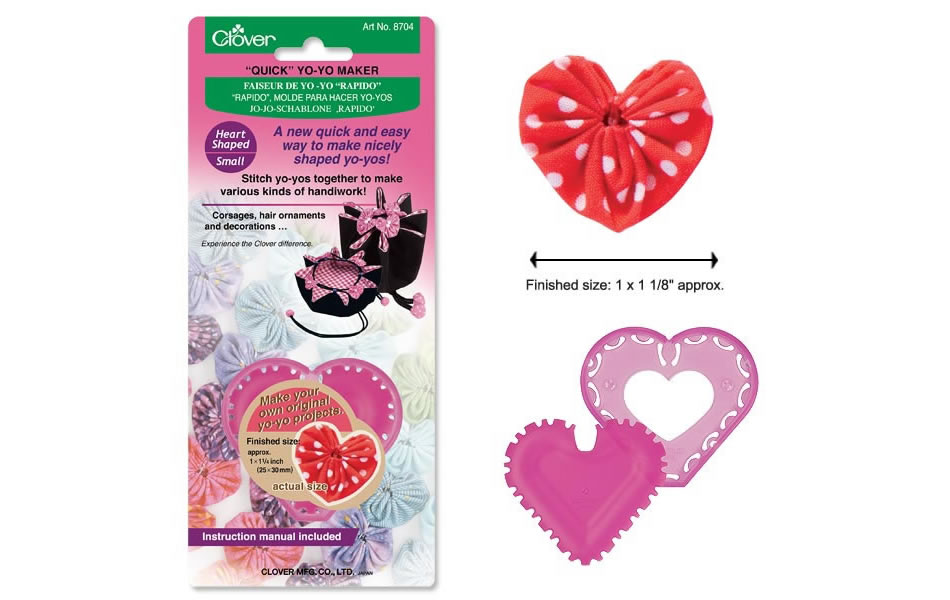 Clover YO YO MAKER-HEART SHAPED-SMALL