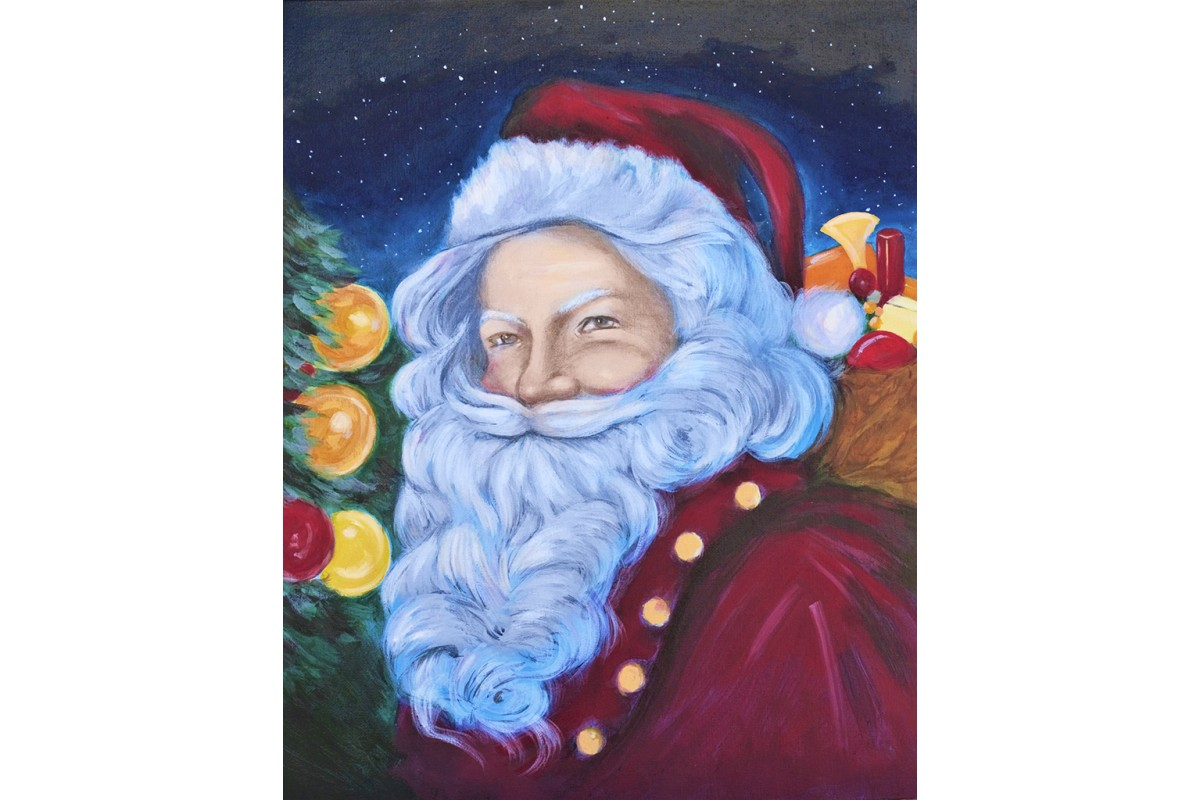 diamond painting - BABBO NATALE - labottegadelleideelecco.it