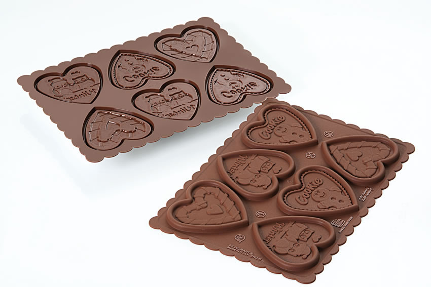 <strong> Stampi in Silicone</strong> COOKIE HEARTS - Silikomart