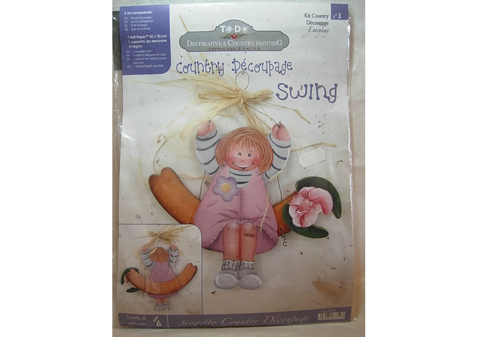 SWING - CON SAGOME IN LEGNO E CARTA DECORATA